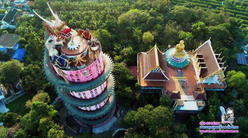 ตึกมังกรตะกายฟ้า จังหวัดนครปฐม ภาพมุมสูงเที่ยวทั่วไทย