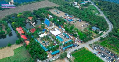 วัดป่าศรีถาวร บางแก้วฟ้านครชัยศรี #ภาพมุมสูงเที่ยวทั่วไทย #aerialthailand